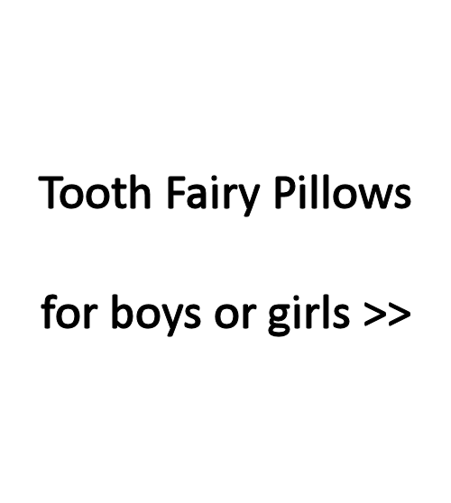 Tooth fairy pillows for boys or girls