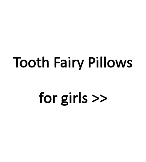 Tooth fairy pillows for girls