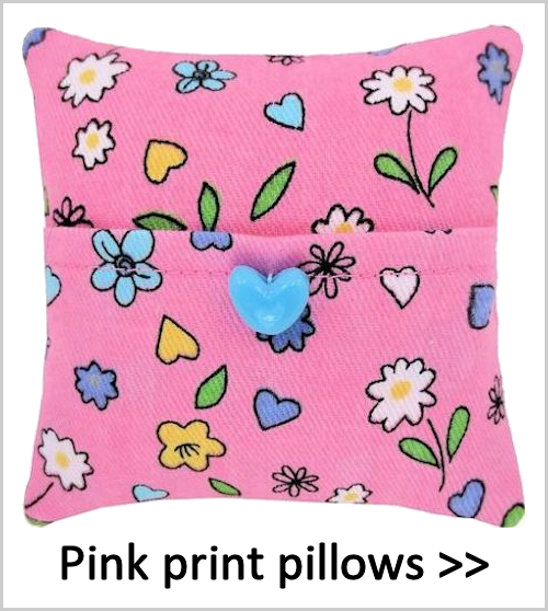 Pink print tooth fairy pillows for girls