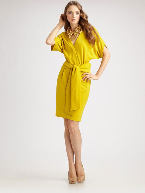 JERSEY BELTED DRESS - Josie Natori - Your Store