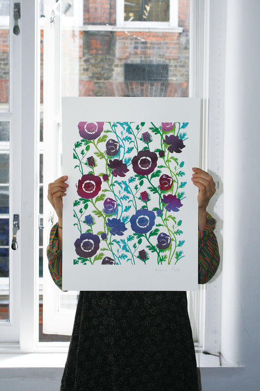 Screen Print Anemone - product images  of