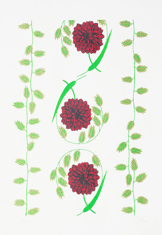 Screen Print Dahlia - product images