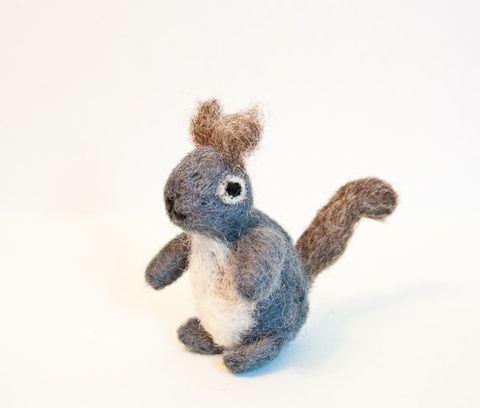 Squirrel,ornament,Art,Sculpture,Animal,Grey_squirrel,felted_squirrel,squirrel_sculpture,miniature_squirrel,squirrel_miniature,woodland_animal,animal_sculpture,cute_miniature,grey,white,squirrel,squirrel_figurine,Squirrel_ornament,wool roving