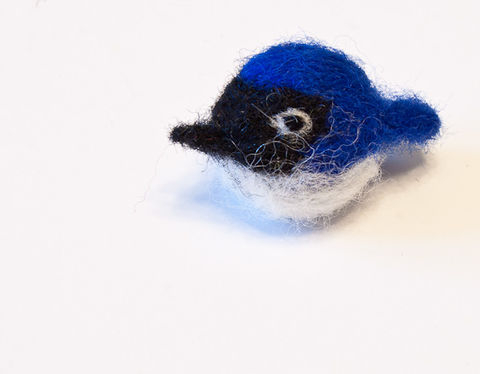 Bluebird,pin,,handmade,needle,felted,with,wool,Bluebird pin, Bluebird brooch, Bleubird, felted bluebird, needle felted bluebird, Tiny, miniature, brooch, jewelry, pin, CraftsbyKeri, Canada, Ontario, cute, bird pin, bird brooch, stocking stuffer, Spring, Summber, bird lover gift, birthday gift