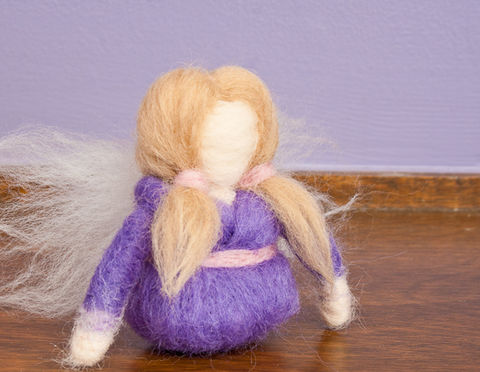 Handmade,felted,angel,ornament,angel ornament, angel decoration, felted angel ornament, needle felted angel, purple, ornament, Christmas, angel