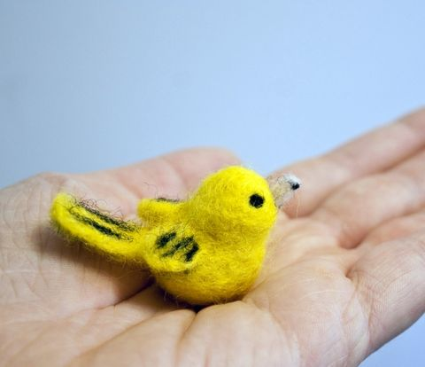 Yellow,warbler,bird,miniature,ornament,decoration,,handmade,needle,felted,yellow warbler, miniature bird ornament, miniature bird decoration, yellow warbler miniature, felted bird, felted yellow bird, needle felted bird