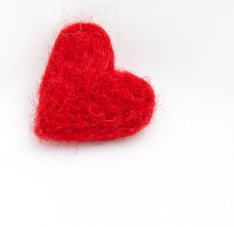 Heart,felted,brooch,Needlecraft,Felted,Brooch,heart,pendant,red,wool,monogrammed,needle_felted,white,love,romantic,Canada,wedding_favor,wool_roving,pin_back