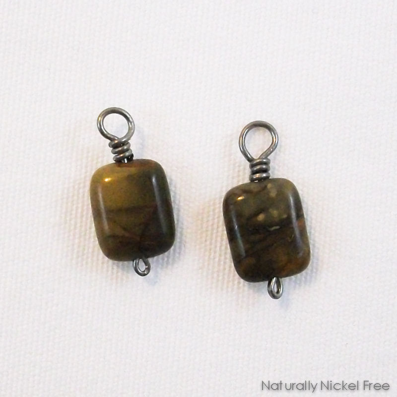River Creek Jasper Add-on Earring Dangles with Niobium Wire - product image