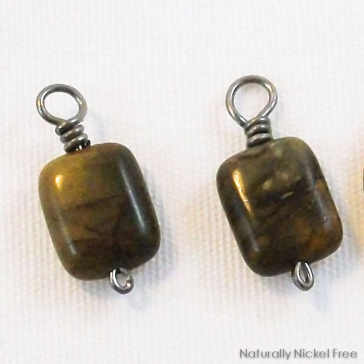 River Creek Jasper Add-on Earring Dangles with Niobium Wire - product images  of