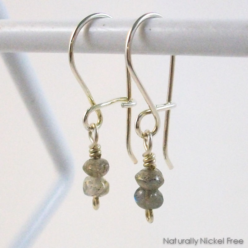 Labradorite Argentium Sterling Silver Interchangeable Earrings - product image