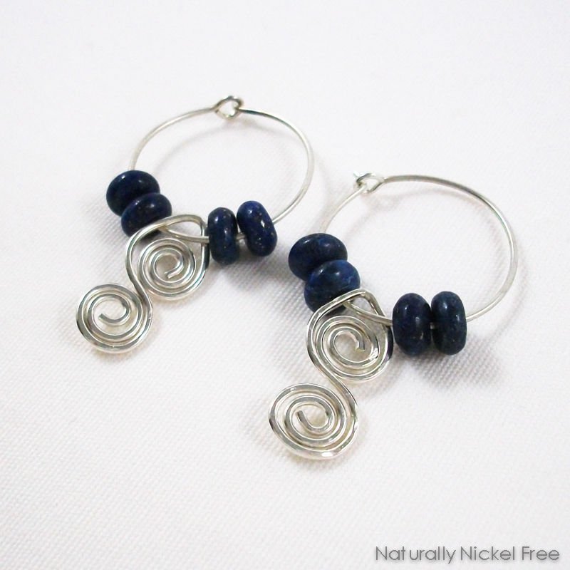 products product lazuli silver images of dangle with hoop lapis wire argentium grande spiral earrings
