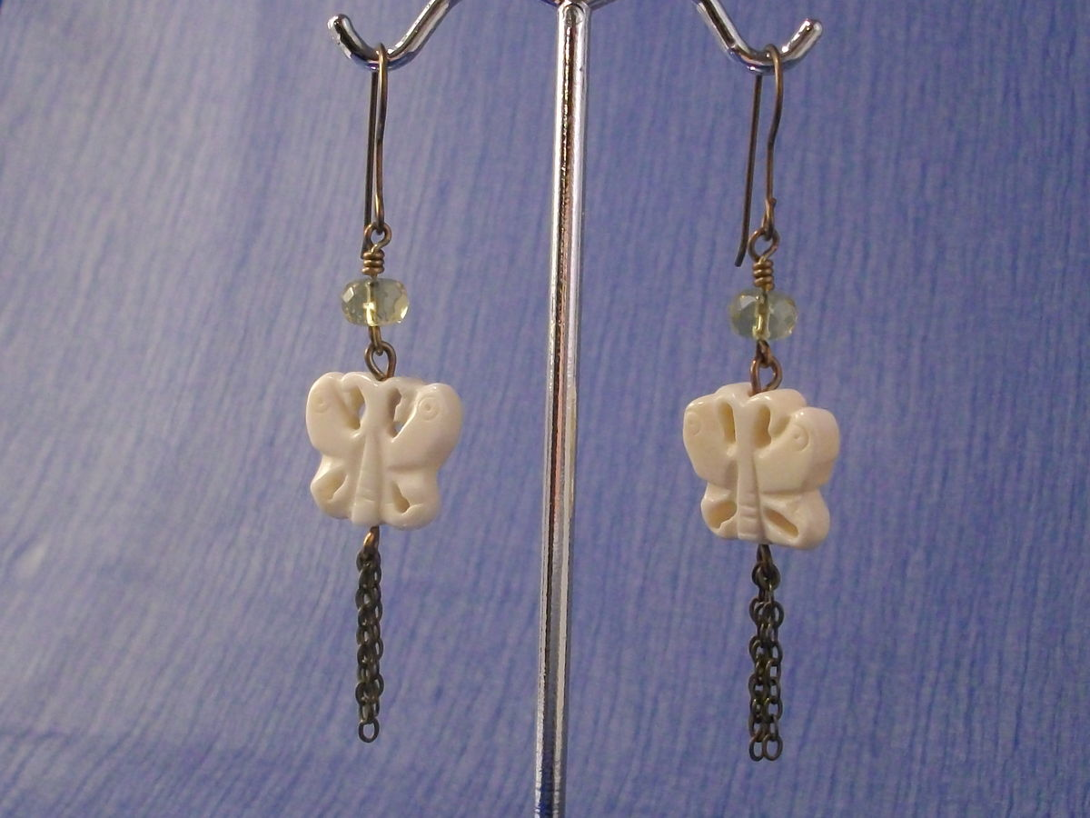 Butterfly Earrings with Titanium Earwires - product images  of