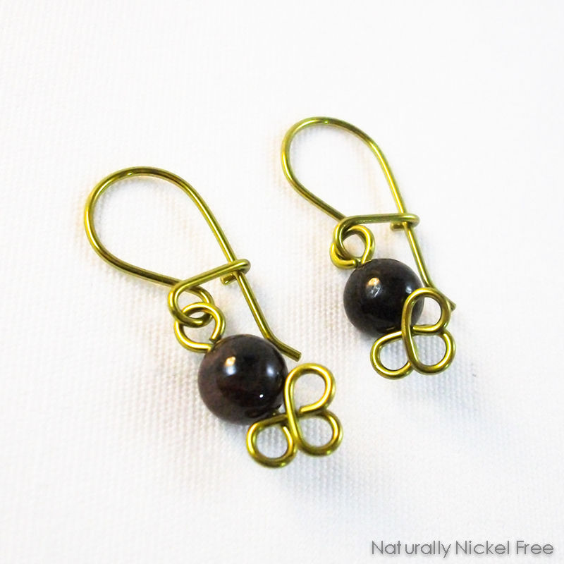 Garnet Dangle Earrings, Interchangeable - product image
