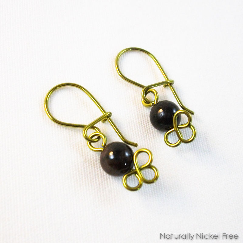 Garnet Dangle Earrings, Interchangeable - product images  of