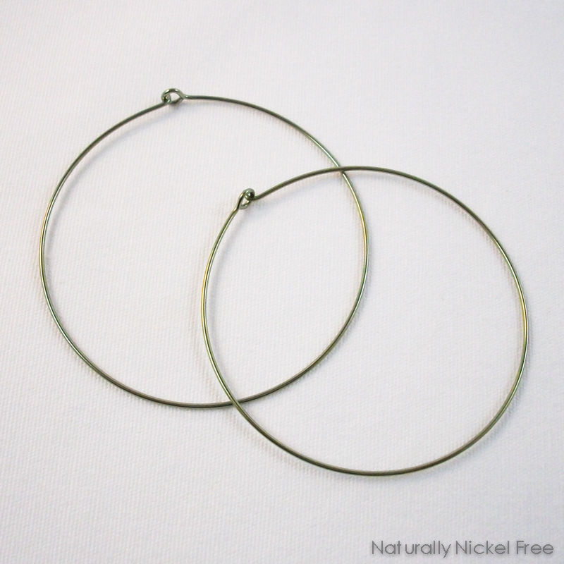 Simple Niobium Hoop Earrings Choose Your Size And Color Product Images Of