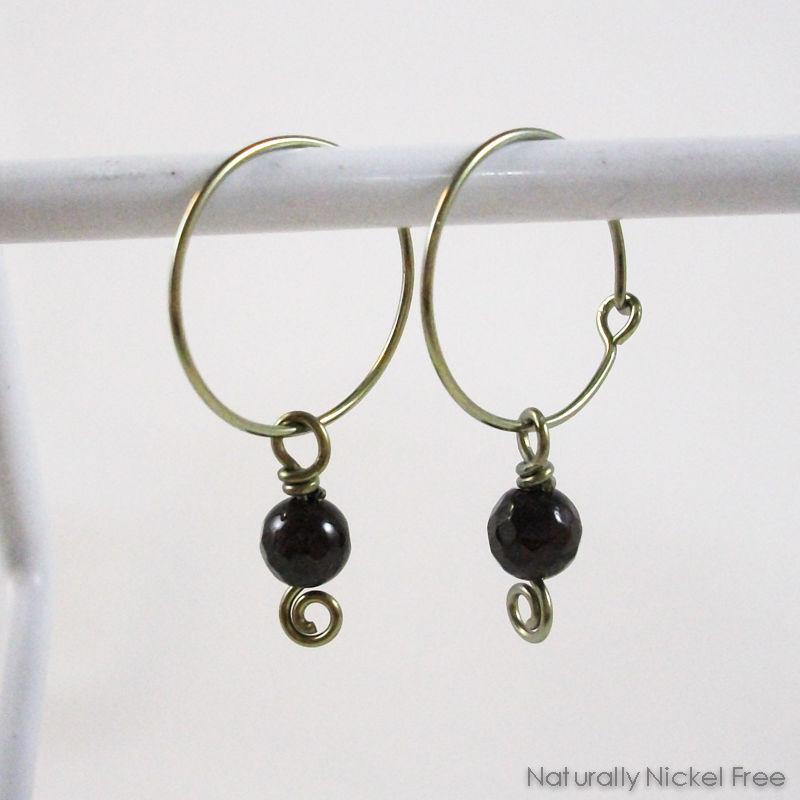 Garnet Hoop Earrings Product Images Of