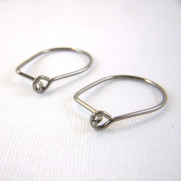 Niobium Straight Post Oval Hoop Earrings, Choose Your Color - product images  of