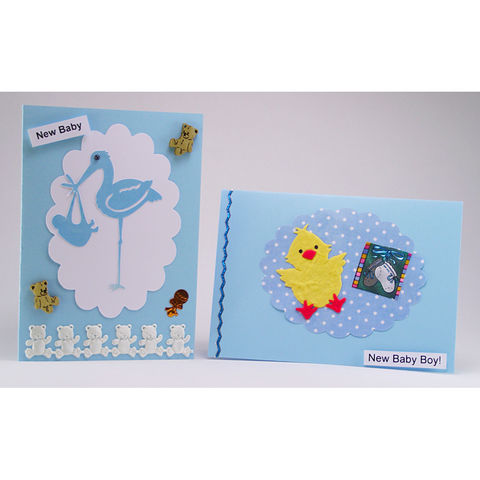 Two,handmade,'new,baby,boy',cards,inspired-glass, chris's cards, handmade cards, baby boy cards, greeting cards