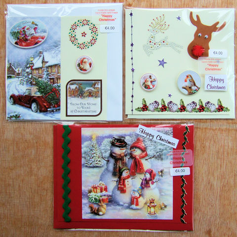 Handmade,'Fun',Christmas,cards,-,pack,of,three,by,Chris's,Cards,inspired-glass, chris's cards, handmade cards, frog cards, greeting cards