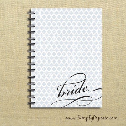 Bride,Weekly,Planner,Weekly Planner, Calendar, month, monthly, bride, bridal, maid of honor, wedding, planning, quattrefoil, distressed, light blue, academic, year, school, planner, 2016, 2015, trendy, modern, powder blue, baby blue, The Artisan Group
