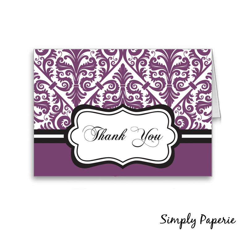 Damask Thank You Cards - product images  of