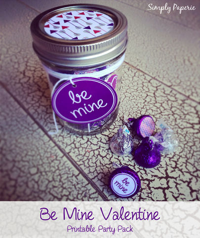 Be,Mine,-,Valentine,PRINTABLE,Party,Pack,Valentine's Day, Party, Valentine, be mine, Invitation, xoxo, red, pink, purple, decoration, arrow, tag, sticker, water bottle label, printable, cupcake wrapper, sign, pennant, straw, party, swirl, polka dot, The Artisan Group, love, card, invitation