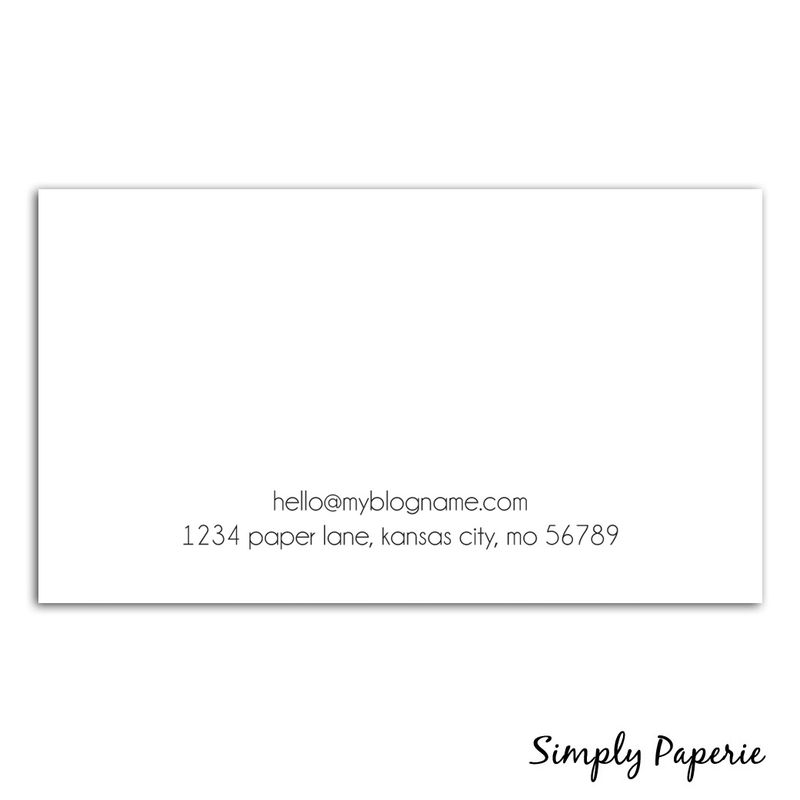 Modern Minimal Calligraphy Business Cards - product images  of