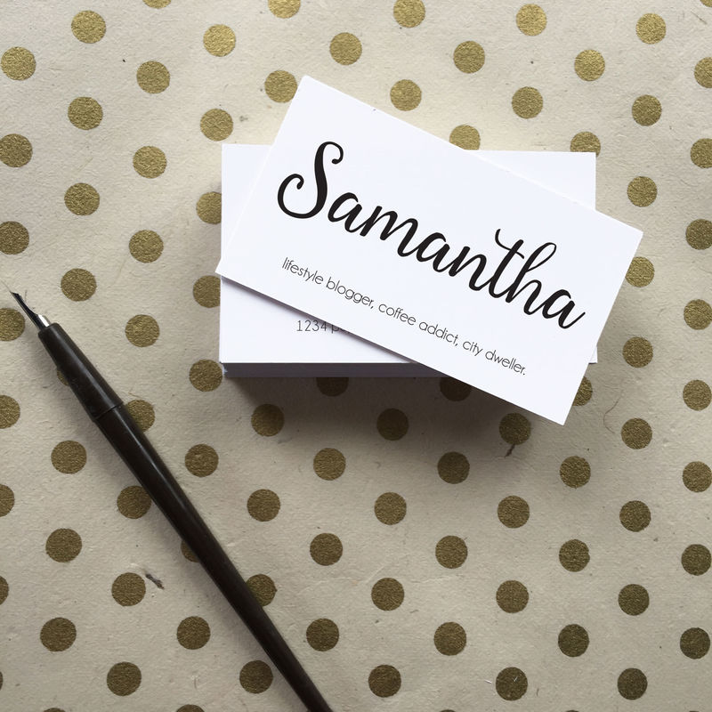Modern Minimal Calligraphy Business Cards - Simply Paperie