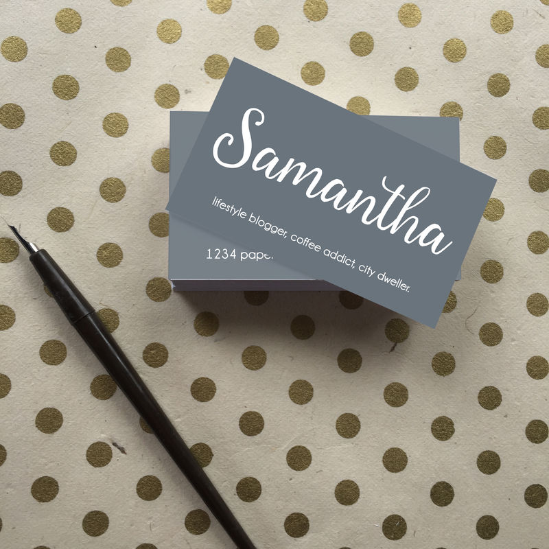 Modern Minimal Calligraphy Business Cards - Choose Your Color ...