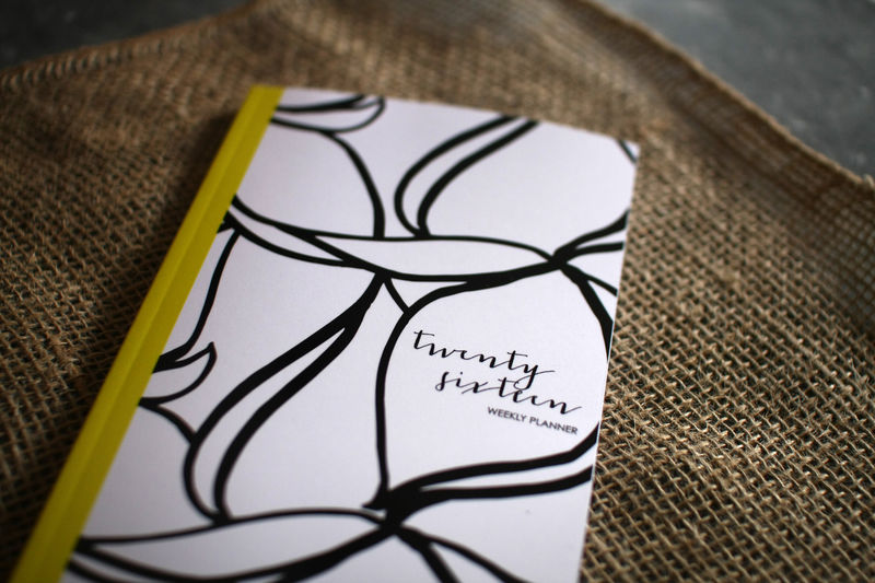 Black and White Floral Planner - product images  of