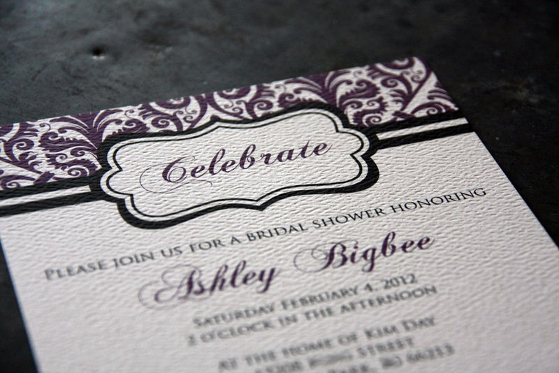 Damask Shower Invitation - product images  of