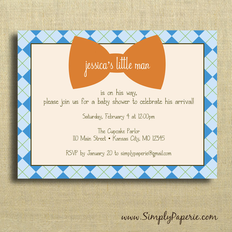 little man party invitations simply paperie