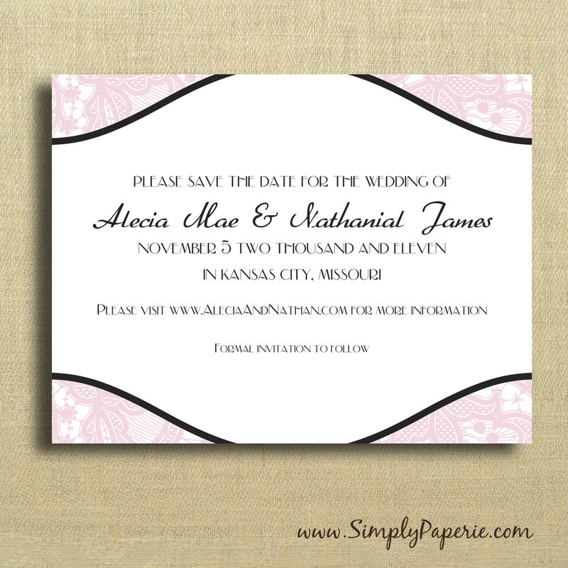 Vintage Lace Save the Dates - product images  of