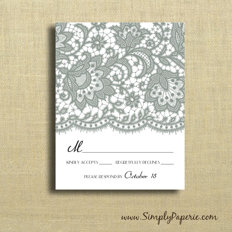 Vintage Lace Wedding Invitations - product images  of
