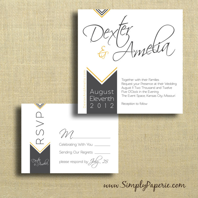Chevron Wedding Invitations - product images  of