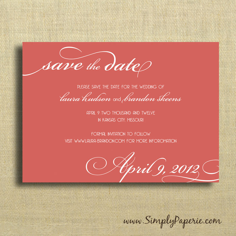 Select your color! Modern Wedding Typography Save the Dates - product images  of