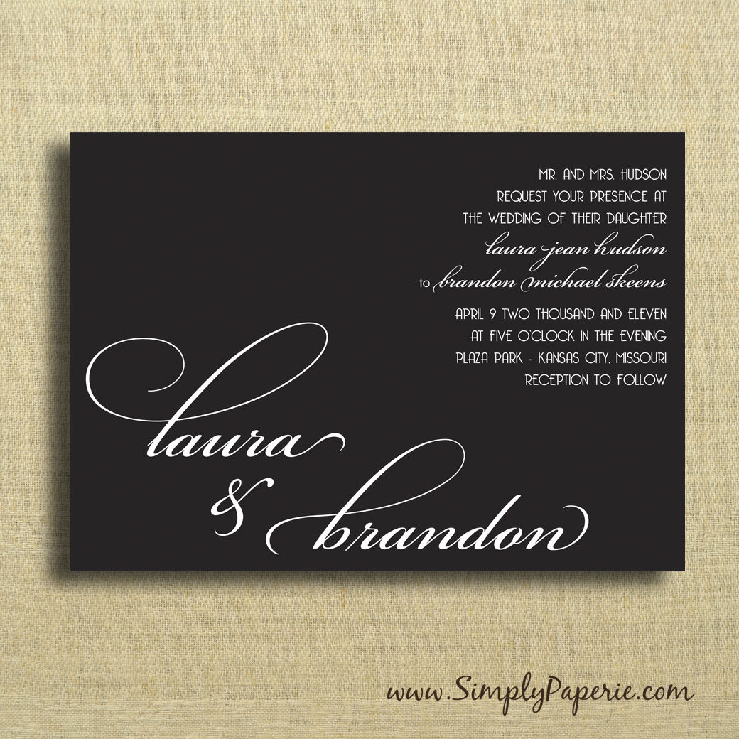 select your color! modern wedding typography invitations - simply, Wedding invitations