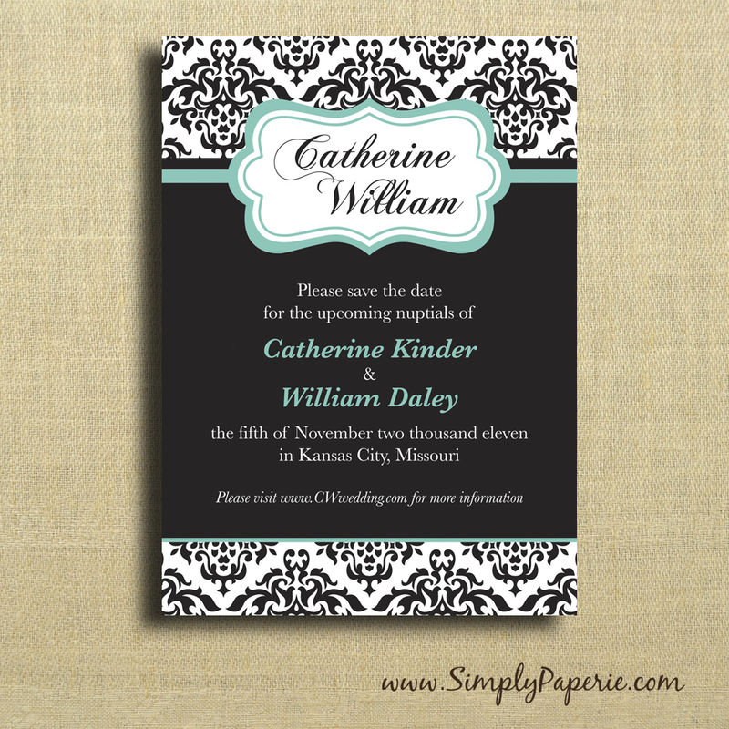 Damask Save the Date Cards - product images  of