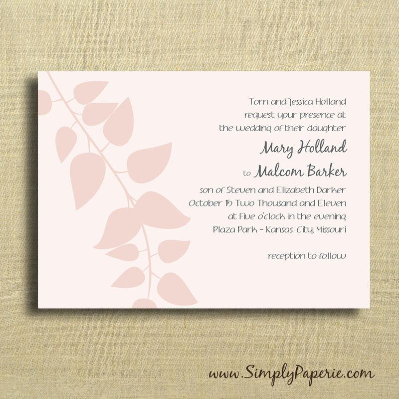 blush pink wedding invitations - simply paperie, Wedding invitations
