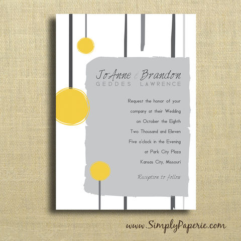 Yellow,and,Grey,Sketched,Wedding,Invitations, Invitation, rsvp, script, wedding invitation, wedding stationery, modern, yellow, grey, neutral,bright, ecru, sketch, lines, edgy