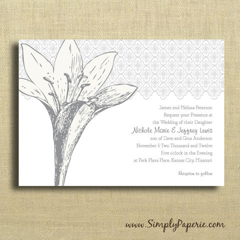 Iris,Wedding,Invitations,Wedding Invitation, rsvp, iris, floral, elegant, formal, flower, grey, black, custom, personalized, white, cream, announcement
