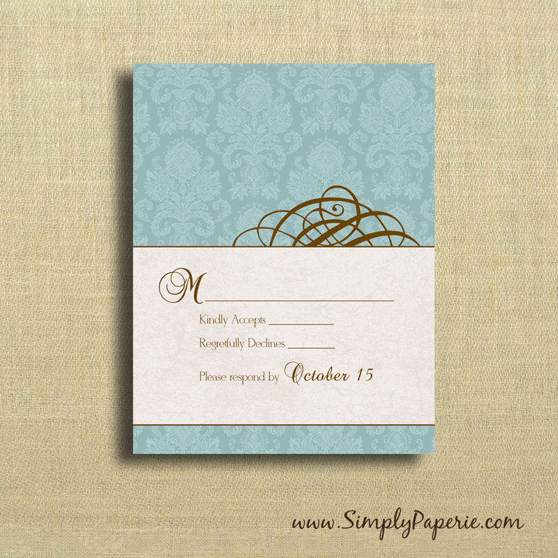 Teal Swirl Wedding Invitations - product images  of