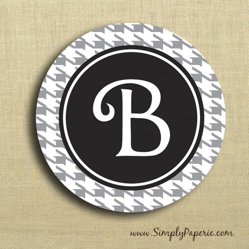Houndstooth Personalized Stickers - product images  of