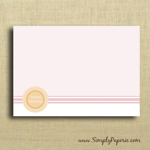 Pink,and,Orange,Thank,You,Notecards,Paper Goods, Cards, Blank, notecard, note, card, flat, 5 x 7, a7, thank you, pink, orange, circle, feminine, girlie, thank you card set, The Artisan Group