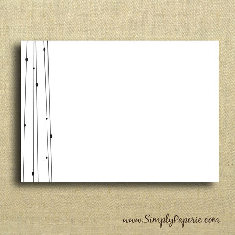 Black,and,White,Wirerope,Notecards,Paper Goods, Cards, Blank, notecard, note, card, circles, flat, black, white, line, modern, sleek, The Artisan Group, thank you card set, announcement, ink, envelope