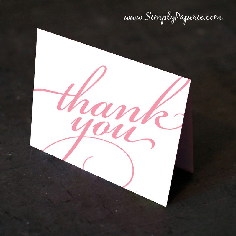 Fancy Script Thank You Cards - product images  of