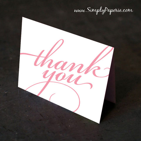 Fancy,Script,Thank,You,Cards,Paper Goods, Cards, elegant, vintage, classic, scrolls, custom, wedding, The Artisan Group, tangerine, thank you card, foldover