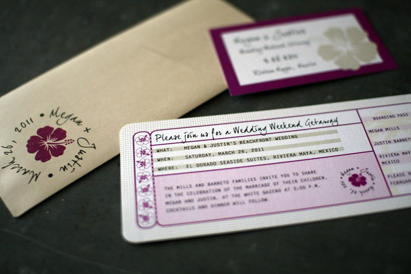 Boarding Pass Invitation and Ticket Jackets - product images  of