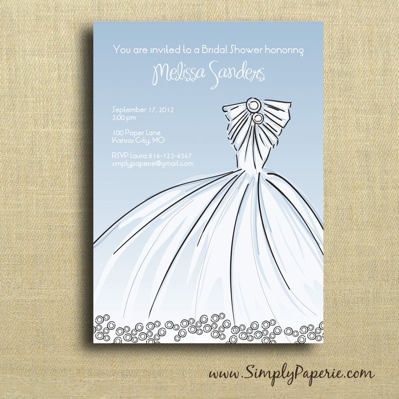 Elegant Gown Shower Invitation - product images