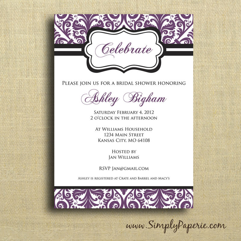 Wedding Shower Collection Simply Paperie – How to Address Wedding Shower Invitations